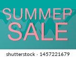 summer sale banner for website. ... | Shutterstock . vector #1457221679