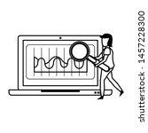 laptop mobile technology... | Shutterstock .eps vector #1457228300