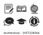 graduation cap and geography... | Shutterstock .eps vector #1457228366