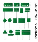 vector set of green road signs... | Shutterstock .eps vector #1457235809