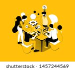 vector business illustration. a ... | Shutterstock .eps vector #1457244569