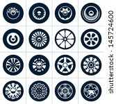 wheels. rims vector collection. | Shutterstock .eps vector #145724600