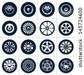 wheels. rims vector collection.