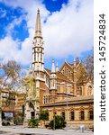 view of barcelona  spain.... | Shutterstock . vector #145724834