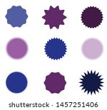set of icons badges starburst ... | Shutterstock .eps vector #1457251406