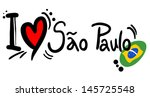 love sao paulo | Shutterstock .eps vector #145725548