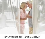 side view of a middle aged... | Shutterstock . vector #145725824