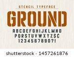stencil original condensed... | Shutterstock .eps vector #1457261876