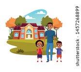 back to school with happiness...   Shutterstock .eps vector #1457268899