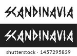 scandinavia  vector text label... | Shutterstock .eps vector #1457295839