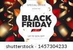 black friday sale banner... | Shutterstock .eps vector #1457304233