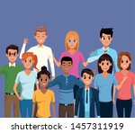 young people character smiling... | Shutterstock .eps vector #1457311919