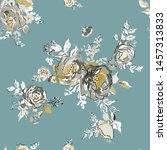 seamless pattern with spring... | Shutterstock .eps vector #1457313833