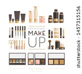 make up set. all kinds of... | Shutterstock .eps vector #1457315156