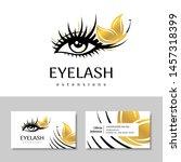 branding for salon eyelash...   Shutterstock .eps vector #1457318399