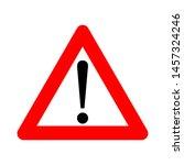 hazard warning attention sign ... | Shutterstock .eps vector #1457324246