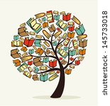 global education concept tree... | Shutterstock .eps vector #145733018