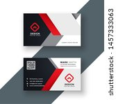 business card template in red... | Shutterstock .eps vector #1457333063