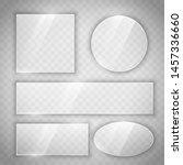 transparent glass glossy... | Shutterstock .eps vector #1457336660