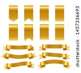 gold ribbons and labels pack | Shutterstock .eps vector #1457336693