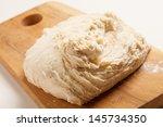 Dough On Wooden Board