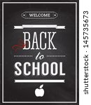 back to school poster with text ... | Shutterstock .eps vector #145735673