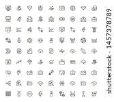 digital marketing icon set.... | Shutterstock .eps vector #1457378789