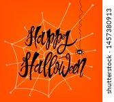 happy halloween  vector... | Shutterstock .eps vector #1457380913