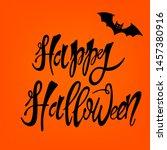 happy halloween  vector... | Shutterstock .eps vector #1457380916
