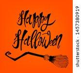 happy halloween  vector... | Shutterstock .eps vector #1457380919