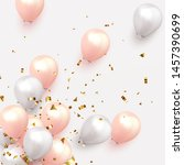 festive background with helium... | Shutterstock .eps vector #1457390699