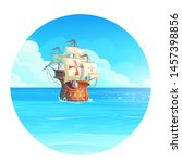 vector cartoon background... | Shutterstock .eps vector #1457398856