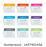 infographics rectangle paper...   Shutterstock .eps vector #1457401436