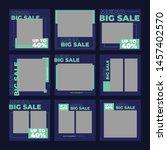 set modern promotion square web ... | Shutterstock .eps vector #1457402570