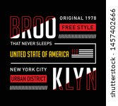 new york city typography design ... | Shutterstock .eps vector #1457402666