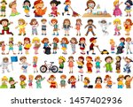 kids in large group acting our...   Shutterstock .eps vector #1457402936