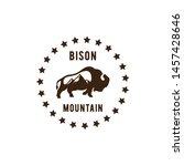 bison mountain combine logo... | Shutterstock . vector #1457428646