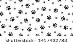 dog paw seamless pattern... | Shutterstock .eps vector #1457432783