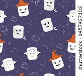 halloween pattern. candy... | Shutterstock .eps vector #1457437103