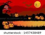 spooky halloween backgrounds ... | Shutterstock .eps vector #1457438489