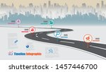 business road map timeline... | Shutterstock .eps vector #1457446700