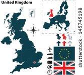 vector of united kingdom set... | Shutterstock .eps vector #145745198