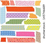 set of colorful craft tape with ... | Shutterstock . vector #145746689