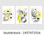 posters set with bright bold... | Shutterstock .eps vector #1457471516