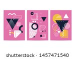 posters set with bright bold...   Shutterstock .eps vector #1457471540