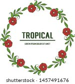 greeting card tropical ... | Shutterstock .eps vector #1457491676