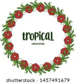 greeting card tropical ... | Shutterstock .eps vector #1457491679