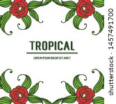 decor of card tropical with... | Shutterstock .eps vector #1457491700