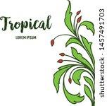 pattern art flower frame and... | Shutterstock .eps vector #1457491703