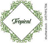 pattern art flower frame and... | Shutterstock .eps vector #1457491706